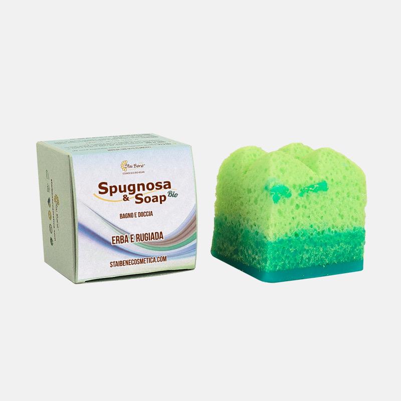 Spugnosa e Soap bio Erba e Rugiada -  Agrumatissima