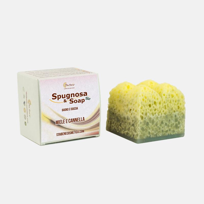 Spugnosa e Soap bio Miele e Cannella - Intrigante