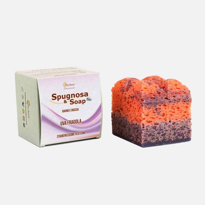 Spugnosa e Soap bio Uva Fragola - Inebriante