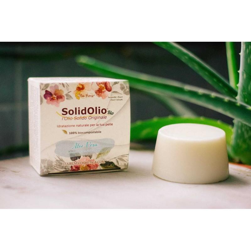 SolidOlio® Aloe vera( Cardamomo nero,Giglio e Vaniglia)- Olio Solido Addolcente - Zero Waste