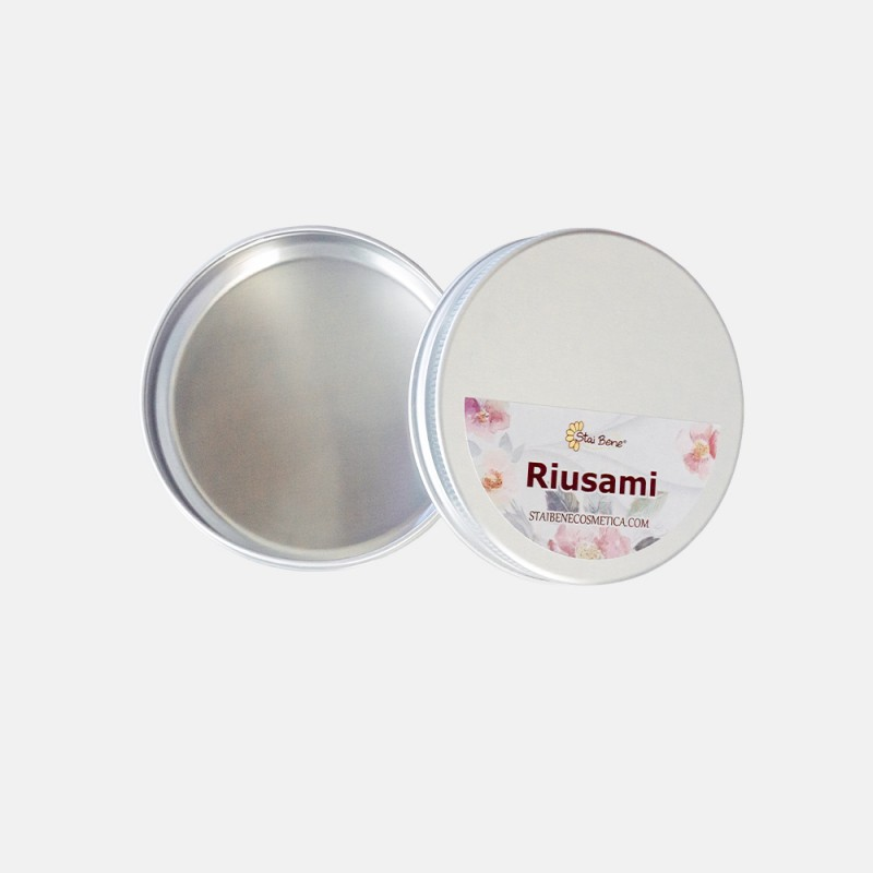 Zero Waste Container in Aluminum for Reuse Solid Shampoo and Solid Milk Make-up Cleaner