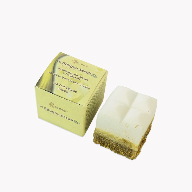 Spugna Scrub Pediluvio bio Salvia rinfrescante e tonificante